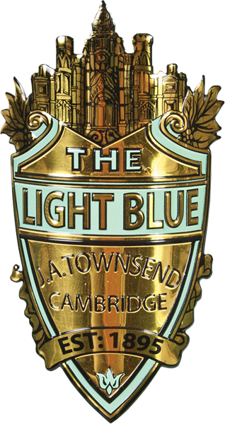 image of the lightblue headbadge