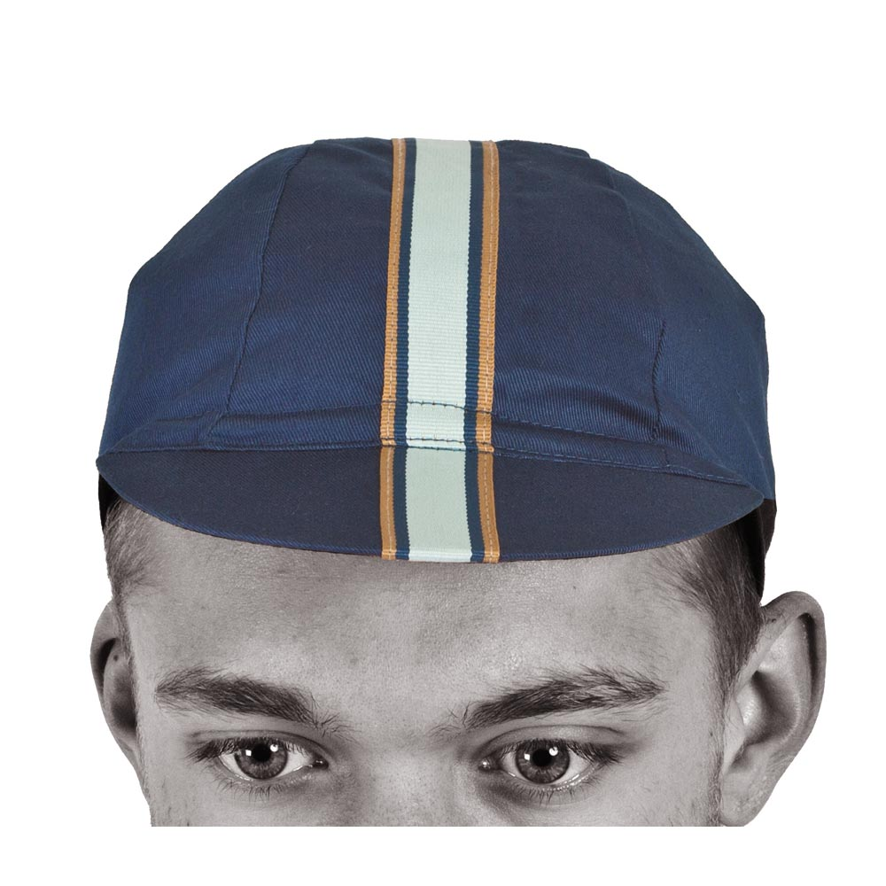 Light Blue Sport Cotton Cycling Cap modelled by Jordan Lunn