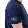 image of The Light Blue Pista T-Shirt sleeve detail